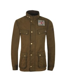 Barbour Int. Steve McQueen Mens Green Lester Washed Wax Jacket
