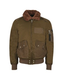 Diesel Mens Green W-Slotkin-A Giacca Bomber Jacket