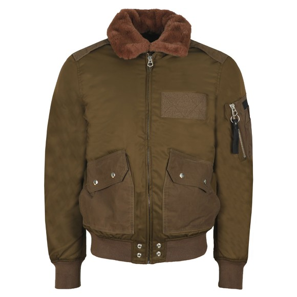 Diesel Mens Green W-Slotkin-A Giacca Bomber Jacket main image