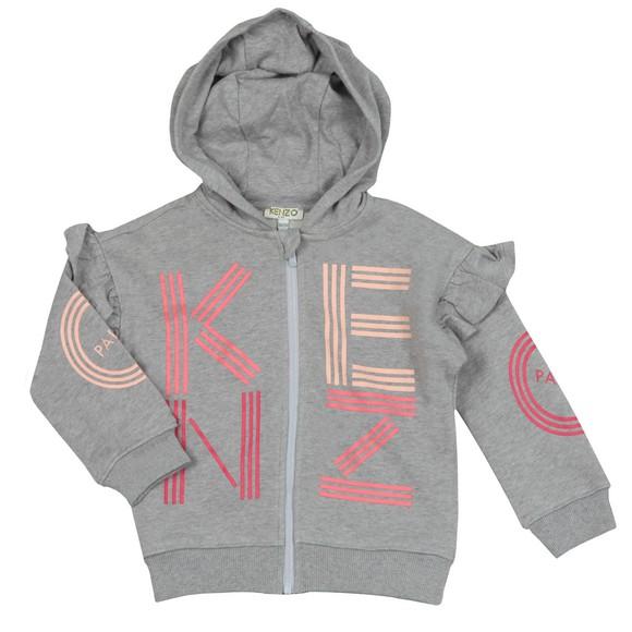 Kenzo Kids Girls Grey Sport Logo Hoody