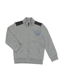 EA7 Emporio Armani Boys Grey Full Zip  Large Logo Tracksuit