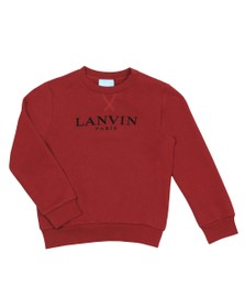 Lanvin Boys Red Logo Sweatshirt