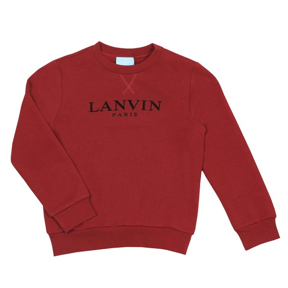 Lanvin Boys Red Logo Sweatshirt main image