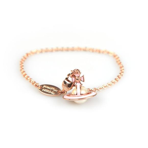 Vivienne Westwood Womens Pink Iris Orb Bracelet