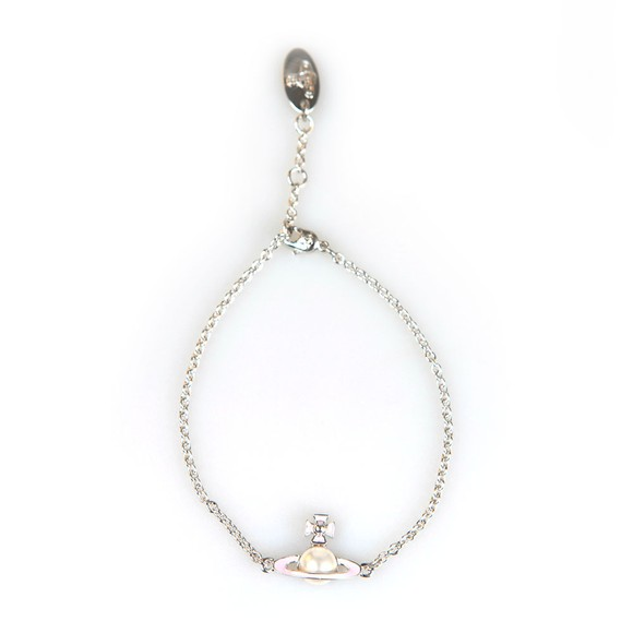 Vivienne Westwood Womens Silver Iris Bas Relief Bracelet main image