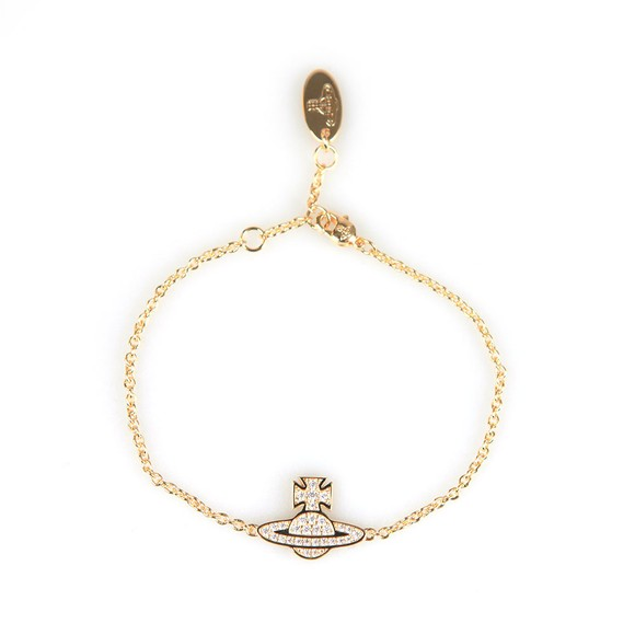Vivienne Westwood Womens Gold Romina Pave Orb Bracelet