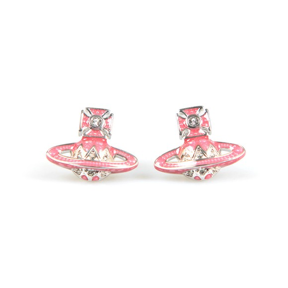 Vivienne Westwood Womens Silver Aretha  Bas Relief Earrings main image