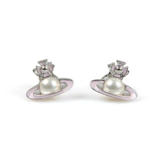 Vivienne Westwood Womens Silver Iris Bas Relief Earring