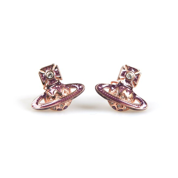 Vivienne Westwood Womens Pink Aretha  Bas Relief Earrings