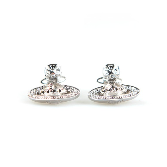 Vivienne Westwood Womens Silver Pina Bas Relief Earring