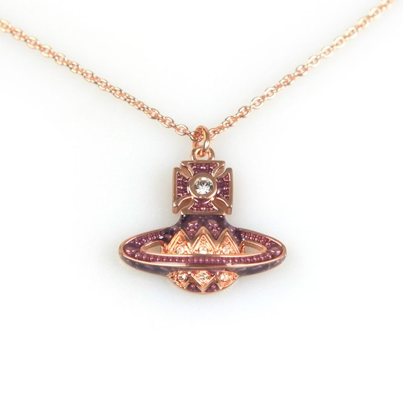 Vivienne Westwood Womens Pink Aretha Small Bas Relief Pendant