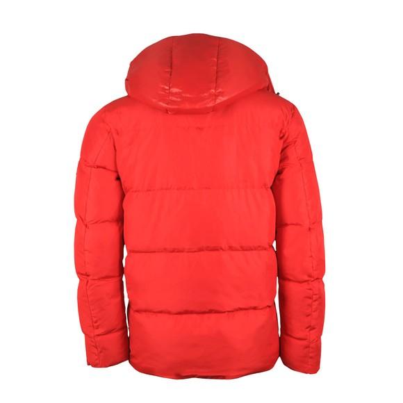 Tommy Hilfiger Mens Red Hooded Bomber Jacket main image