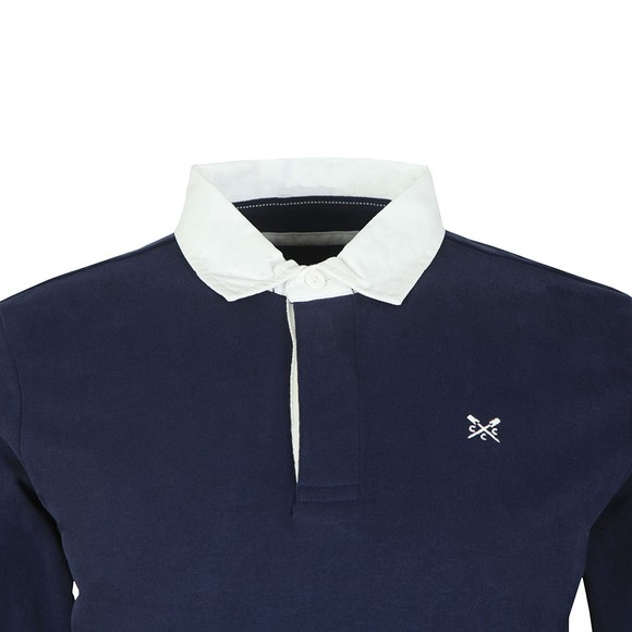 Crew Clothing Company Mens Blue Rugby Shirt main image