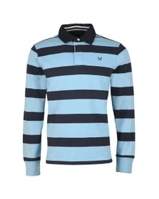Crew Clothing Company Mens Blue Rugby Polo Shirt