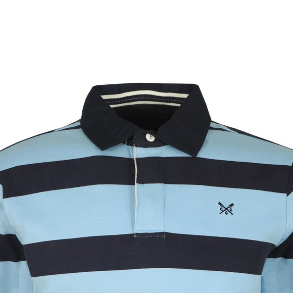 Crew Clothing Company Mens Blue Rugby Polo Shirt main image