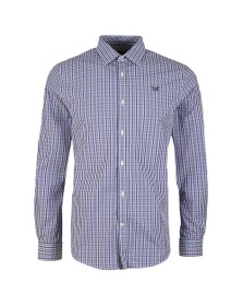 Crew Clothing Company Mens Purple Classic Tattersall Shirt