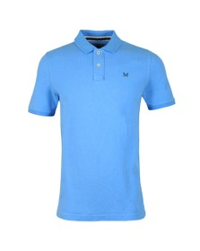 Crew Clothing Company Mens Blue Classic Pique Polo Shirt