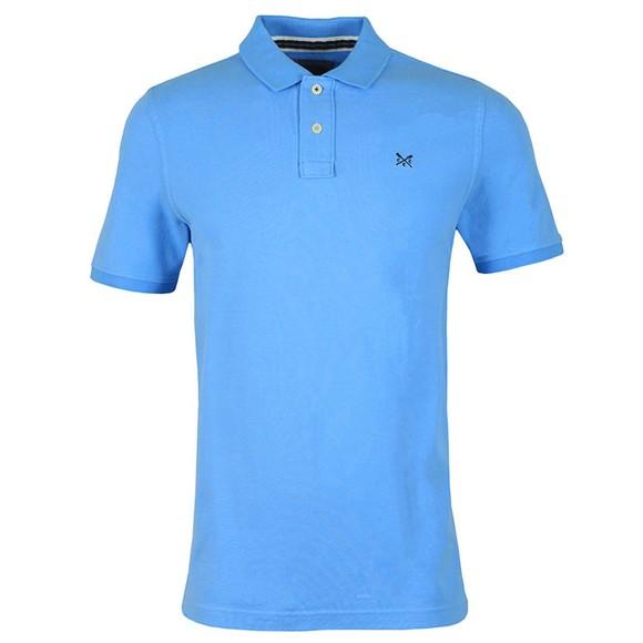 Crew Clothing Company Mens Blue Classic Pique Polo Shirt main image
