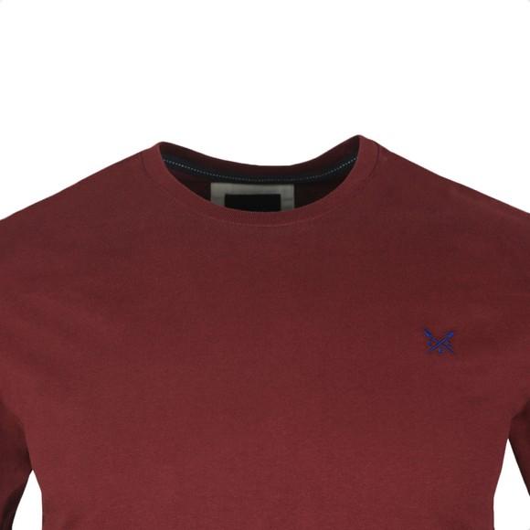 Crew Clothing Company Mens Purple Crew Neck T-Shirt main image