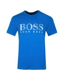 BOSS Bodywear Mens Blue Regular Fit Large Logo T Shirt