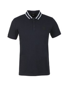 BOSS Mens Blue Casual Premixt Polo Shirt