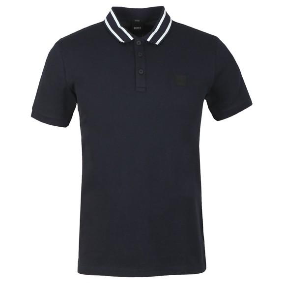 BOSS Mens Blue Casual Premixt Polo Shirt main image