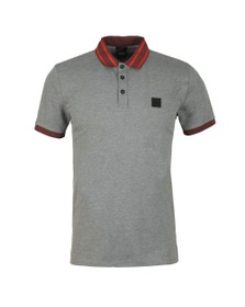 BOSS Mens Grey Casual Premixt Polo Shirt