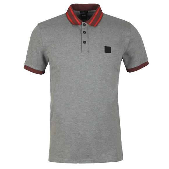 BOSS Mens Grey Casual Premixt Polo Shirt main image