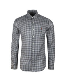 Polo Ralph Lauren Mens Blue Slim Fit Soft Cotton Check Shirt