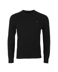 Polo Ralph Lauren Mens Black Crew Neck Wool Jumper