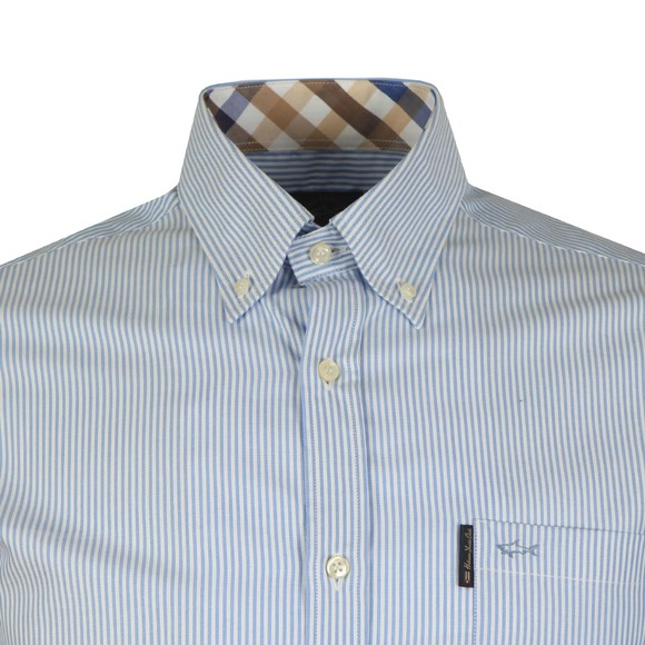 Paul & Shark Mens Blue Stripe Long Sleeve Oxford Shirt
