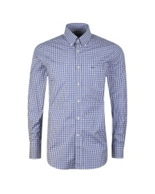 Paul & Shark Mens Blue Gingham Shirt
