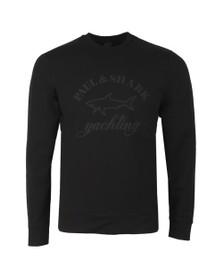 Paul & Shark Mens Black Tonal Large Logo Sweatshirt