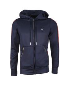 True Religion Mens Blue Hooded Zip Jacket