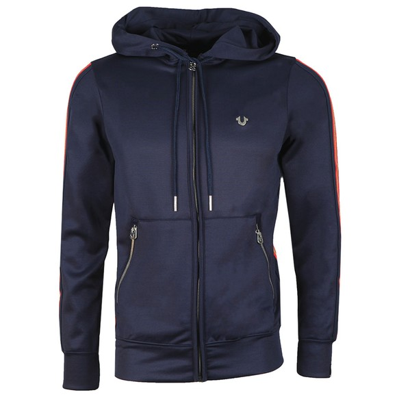 True Religion Mens Blue Hooded Zip Jacket