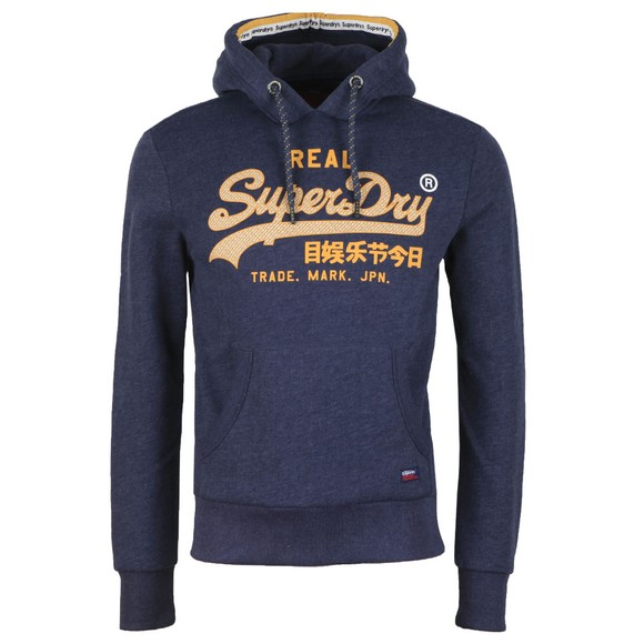 Superdry Mens Blue Logo Racer Hood main image