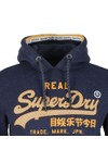 Superdry Mens Blue Logo Racer Hood