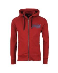 Superdry Mens Red Vintage Logo Monochrome Zip Hoodie