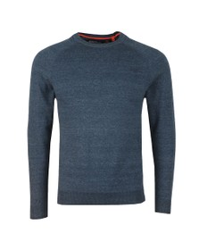 Superdry Mens Blue Cotton Crew Jumper