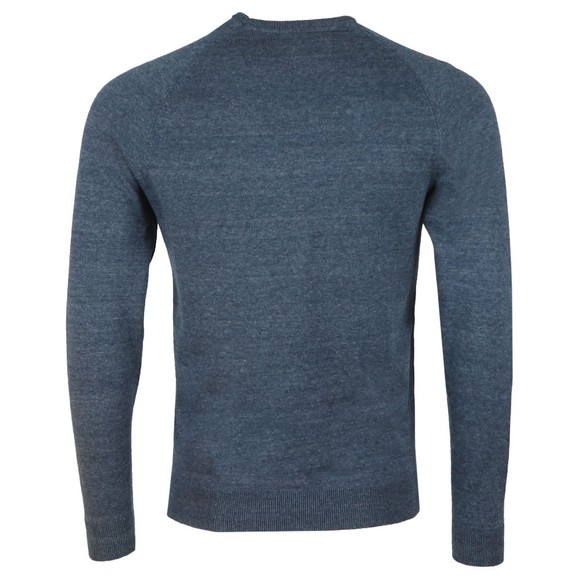 Superdry Mens Blue Cotton Crew Jumper main image