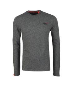 Superdry Mens Grey OL Twill Texture LS T-Shirt
