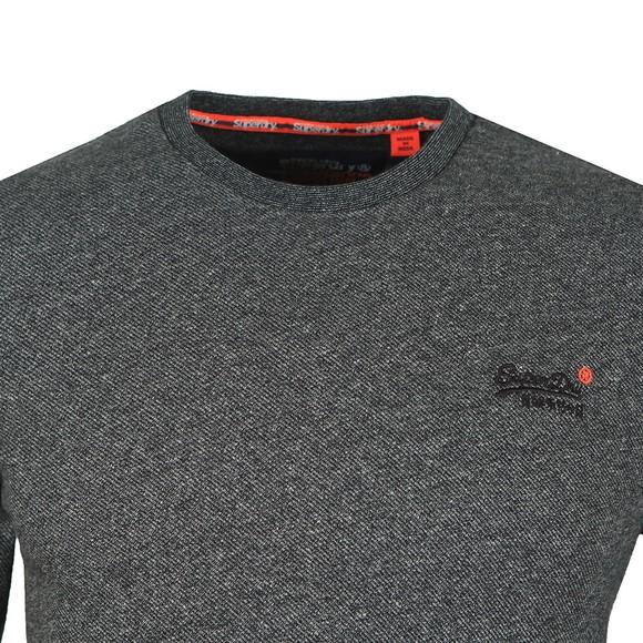 Superdry Mens Grey OL Twill Texture LS T-Shirt main image