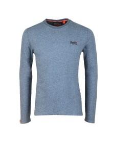Superdry Mens Blue OL Twill Texture LS T-Shirt