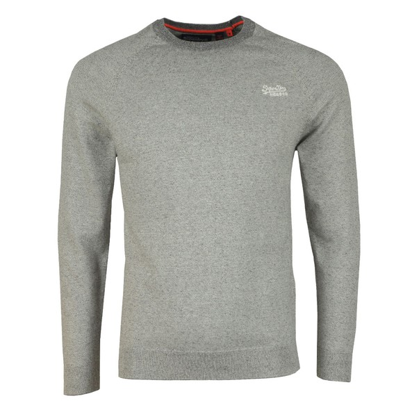 Superdry Mens Beige Cotton Crew Jumper
