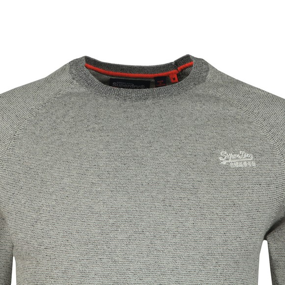 Superdry Mens Beige Cotton Crew Jumper main image