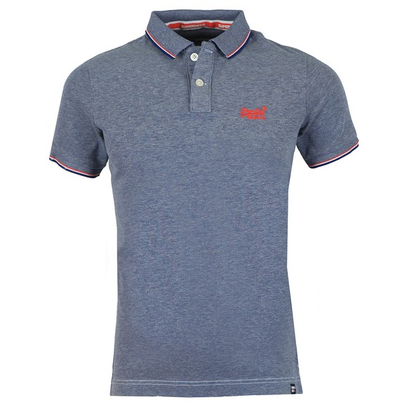 Superdry Mens Blue Poolside Polo main image