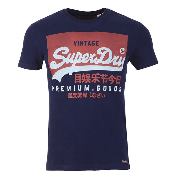 Superdry Mens Blue Vintage Logo Tee main image