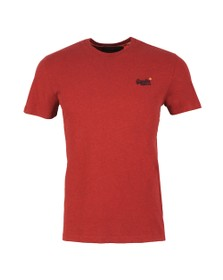 Superdry Mens Red OL Vintage Embroidery T-Shirt