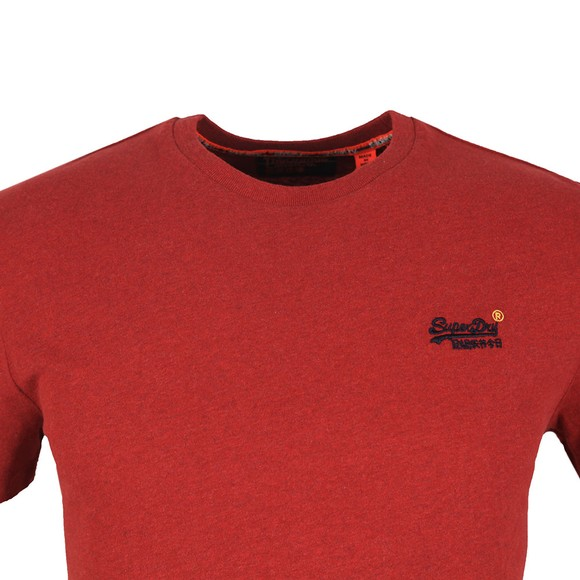 Superdry Mens Red OL Vintage Embroidery T-Shirt main image