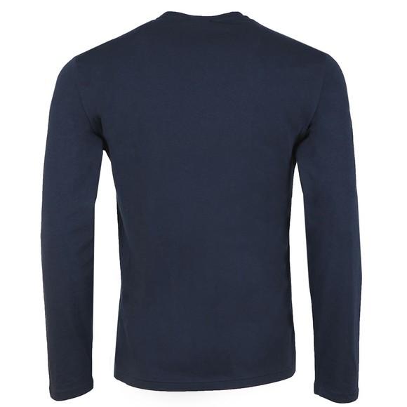 Emporio Armani Mens Blue Small Logo Stretch Long Sleeve T Shirt main image